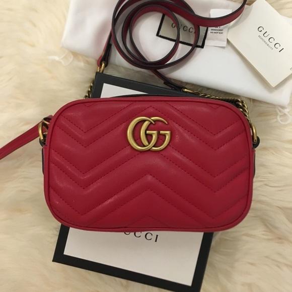 55c5b3215d63 Gucci Bags | Gg Marmont Mini Camera Chain Crossbody Bag | Poshmark